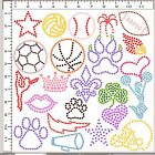 DIY Pre-Cut Sticky Flock Hotfix Rhinestone Template Cheer Bow Sports Icons UPICK