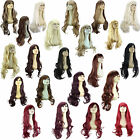 Ladies WIG Long Wavy Curly Flick 3 STYLES/30 SHADES Black Brown Blonde Red