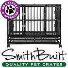 Dog Crate Kennel - Heavy Duty Pet Cage Playpen w / Metal Tray Pan