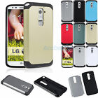 Rugged Heavy Duty Hard Thin Armor Case Hybrid Cover For LG Optimus G2 D801 D802