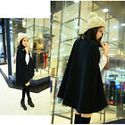 NEW Women Black Batwing Cape Poncho Knit Top Cardigan Pull Over Coat Outwear