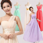 New arrival One Shoulder Wedding Bridesmaid Prom Ball Chiffon Evening Dress