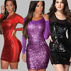 NEW-2015-Sequined-Long-Sleeve-Dress-Sexy-Women-Club-Party-Bodycon-Sequins-Dress
