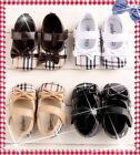 Pretty Plaid Baby girls shoes bowknot infant toddler crib 0-18 months elegant