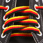 Flat Colored Thick Athletic Striped Shoelaces Bootlaces For Shoes Boots Sneakers