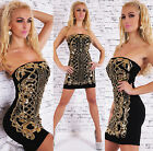Sexy Women's Glamorous Bandeau Mini Dress Sequins Cocktail Party Dress