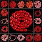 """V0639-0664 Wholesale Red Coral Loose Beads 16"""""""