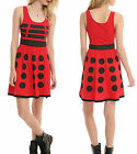 Dr Who Her Universe Red Dalek Costume Cosplay A Line Dress BBC Licensed NIB