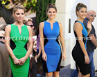 Sexy Deep V Women Patchwork Zipper Bodycon Cocktail Party Summer Vest Dress Y442
