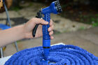 3X Expandable Rubber Garden Car Washing Water Hose Pipe + Spray Nozzle 25-100FT