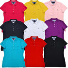 Tommy Hilfiger Polo Shirt Womens Short Sleeve Classic Mesh Heritage Tailored Fit