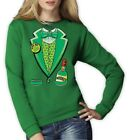 Irish Tux Women Sweatshirt For St Patrick's Day Patty's Green Lucky Drinking Top