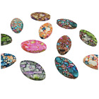 20PCS MIXED COLOUR LARGE ACRYLIC OVAL BEADS - 24MM X 14MM - UK SELLER