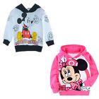 Girls Minnie Mouse SZ 2-7T Long Sleeve Hoodies Top Shirt Sweater Toddler Casual