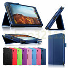 Folio PU Leather Slim Stand Case Fit Cover For Verizon Ellipsis 8 4G LTE Tablet