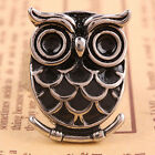 Vintage Goth Punk Black OWL Bird Stainless Steel Finger Ring Jewelry US 9/10/11