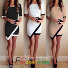 New Sexy OL Womens Bandage Half Sleeve Evening Party Cocktail Mini Short Dresses