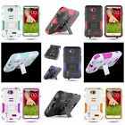 For LG Optimus L70 Exceed 2 Hybrid Heavy Duty Case Hard / Soft Protective Cover