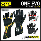 SALE! IB/754 OMP ONE EVO FIREPROOF GLOVES FOR PROFESSIONAL MOTORSPORT RACE RALLY