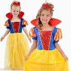Girls Snow White Costume Princess  Fancy Dress Book Day Costume 4 Sizes 3-12 yrs