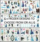 FROZEN Temporary Tattoos Brand New and Fully Sealed *6 Designs to choose from*