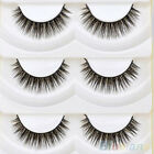 5 Pairs Long Thick Cross Makeup Soft Eye Lashes Extension Beauty False Eyelashes