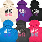 Aeropostale Sweatshirt Hoodie Womens Cutoff Distressed Graphic Pullover W083++++