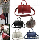 REAL LEATHER VINTAGE BOSTON BAG Women's Bowling Bowler Crossbody Sling Handbag