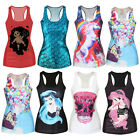 Women Sleeveless Vest Tank Tops Blouse Gothic Punk Club Party Wear T-Shirt Multi