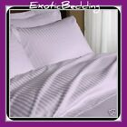 Lavender Stripe 4-Piece Bed Sheet Set 1000 Thread Count Egyptian Cotton