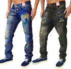 Mens Designer Bar Magic Of Denim Jeans Trendy Funky Party Tapered Fit Denims