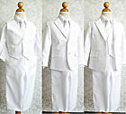 LTF White toddler youth communion baptism wedding party boy tuxedo formal suit