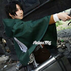 Fashion Attack on Titan Survey Corps Cloak Cape Uniform Cosplay Dress Costume