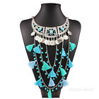 Fashion Women Jewelry Charm Necklace Chunky Crystal Statement Bib Chain Choker
