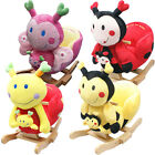 BABIES SOFT CUSHION ROCKING ANIMAL TOY CHAIR MUSICAL ROCKER ROCK MY BABY SUPPORT