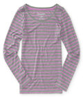 Aeropostale Womens Striped Ls Graphic T-Shirt