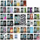 For iPhone 4 4S Pattern Design Snap-on Hard Rubberized Case Cover+Screen Guard