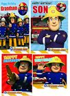 Official Fireman Sam Birthday Cards NEW Son Grandson