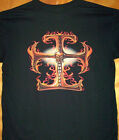 Chopper Iron Cross In Flames T Shirt Sz Sm - 6XL BIKER SKULLS MOTORCYCLE