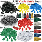 100x RJ45 Cat5e Cat6e Boots Ethernet Network Cable Crimp End Cover Connectors UK