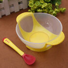 2pcs Baby Kids Suction Bowl Temperature Colour Changing Safe Spoon Feeding Tool