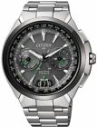 Citizen Atessa Satellite Wave Air Titanium DLC Sapphire Japan Watch CC1086-50E