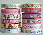 "Mixed Lot 12 yards 22mm 7/8"" Owl Bee Bird Printed Grosgrain Ribbon DIY KK8-"