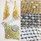 Clip On Mesh Sparkle Dangle Fashion Fun Earrings Choose Color Gold,Silver,Gray
