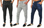 Mens Designer Skinny Slim Stretch Joggers Bottom Pants Trouser 3Styles Pique Jog