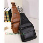 New Fashion Men Genuine Leather Travel Hiking Shoulder Messenger Sling Chest Bag