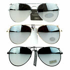 Classic Mens Reflective Silver Mirror Lens Motorcycle Cop Aviator Sunglasses