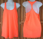 Under Armour UA Achieve Racer Back Semi Fitted Orange Tank Top Shirt 1249557 825