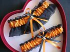 NEW Sexy HOT Bride Wedding Garter Orange Black Prom GetTheGoodStuff Skull Gothic