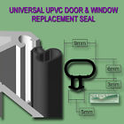 Universal Black Seal Upvc Door Window Draught Excluder Replacement Rubber Gasket